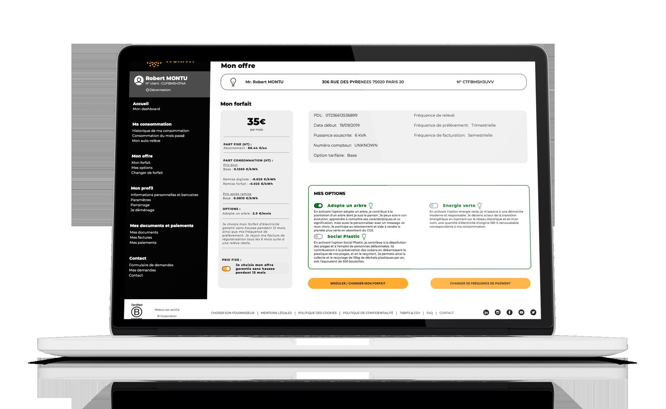 Recherche client/contrat